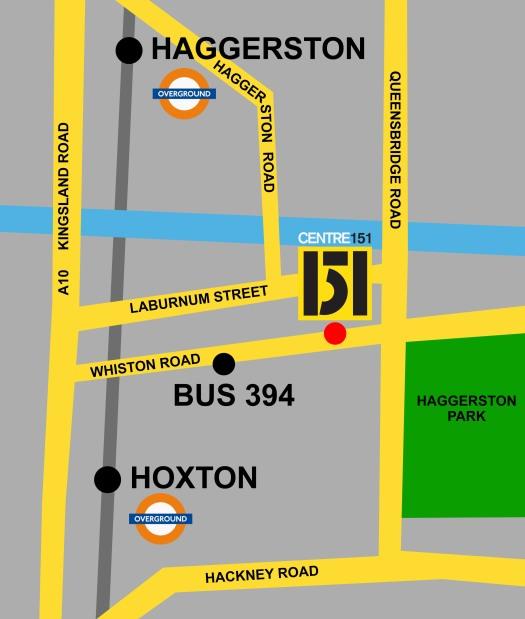Centre 151 map